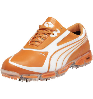 PUMA Men's AMP Cell Fusion SL Golf Shoe - Orange/White