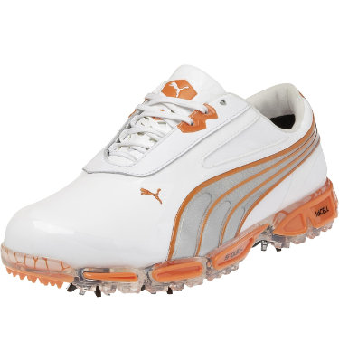 PUMA Men's AMP Cell Fusion Golf Shoe - Orange/White