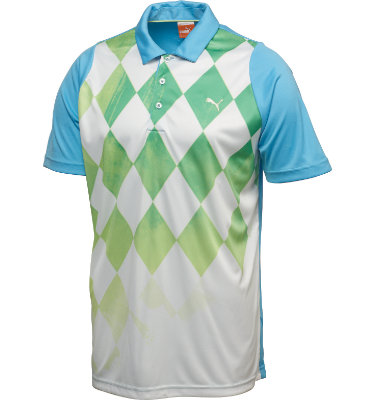 PUMA Junior's Argyle Short Sleeve Polo