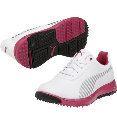 PUMA Junior's FAAS Grip Jr. Golf Shoe - White/Pink
