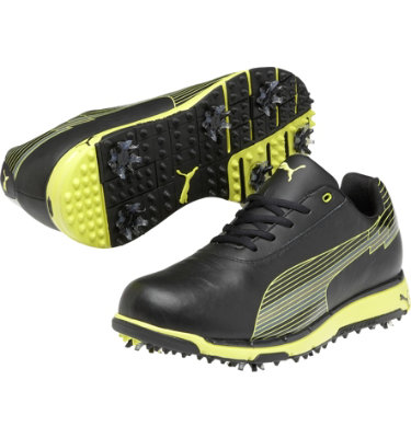 PUMA Men's FAAS Trac Evospeed Golf Shoe - Black/Yellow