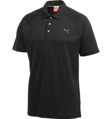 PUMA Junior's Solid Tech Short Sleeve Polo