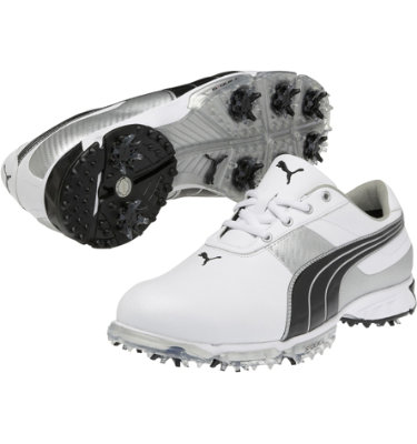 PUMA Men's Spark Sport 2 Golf Shoe - White/Black/Silver