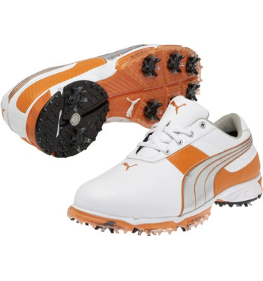 PUMA Men's Spark Sport 2 Golf Shoe - White/Orange