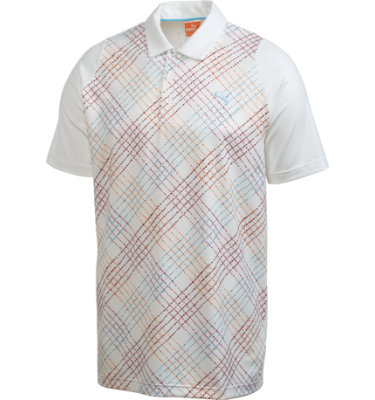 PUMA Men's Duo-Swing Plaid Short Sleeve Polo