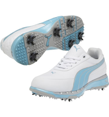 PUMA Women's Faas Trac Golf Shoe - White/Blue