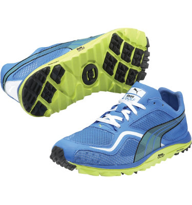 PUMA Men's FAAS Lite Mesh Spikeless Golf Shoe - Blue/Lime/White