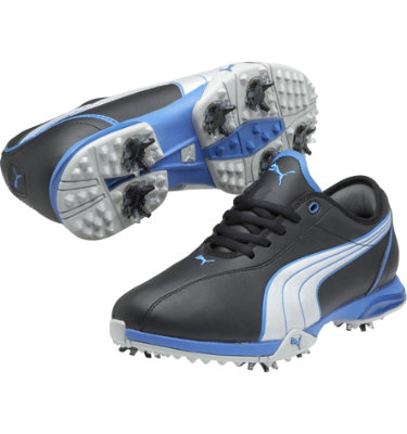 PUMA Women's Royal Tee Golf Shoe - Black/Silver/Blue