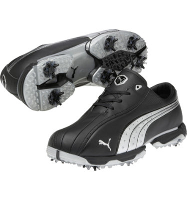 PUMA Men's Tux Lux Golf Shoe - Black/Silver