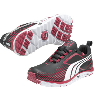 PUMA Women's FAAS Lite Spikeless Golf Shoe - Black/White/Pink