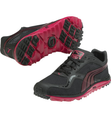 PUMA Women's FAAS Lite Mesh Spikeless Golf Shoe - Black/Pink