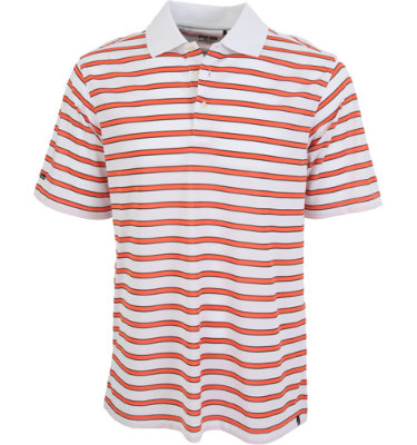 PING Men's Mark Stripe Short Sleeve Polo