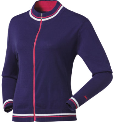 Slazenger Women's Swing Front Zip Long Sleeve Sweater