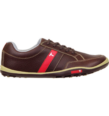 TRUE linkswear Men's phx Golf Shoe - Brown/Tan