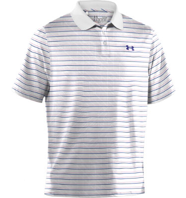Under Armour Men's Performance Emboss Stripe Short Sleeve Polo