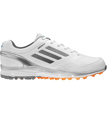 adizero Men's adizero Sport II Golf Shoe - White/Metallic Silver