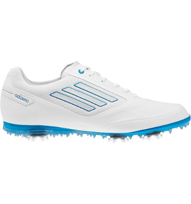 adizero Women's adizero Tour II Golf Shoe - White/Solar Blue