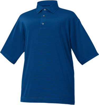 FootJoy Men's Mini End-On-End Lisle Stripe Short Sleeve Polo