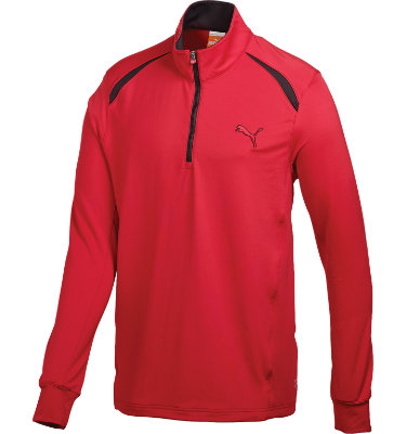 PUMA Men's Solid Long Sleeve 1/4-Zip Top