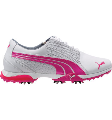 PUMA Women's BioFUSION Golf Shoe - White/Fluo Pink