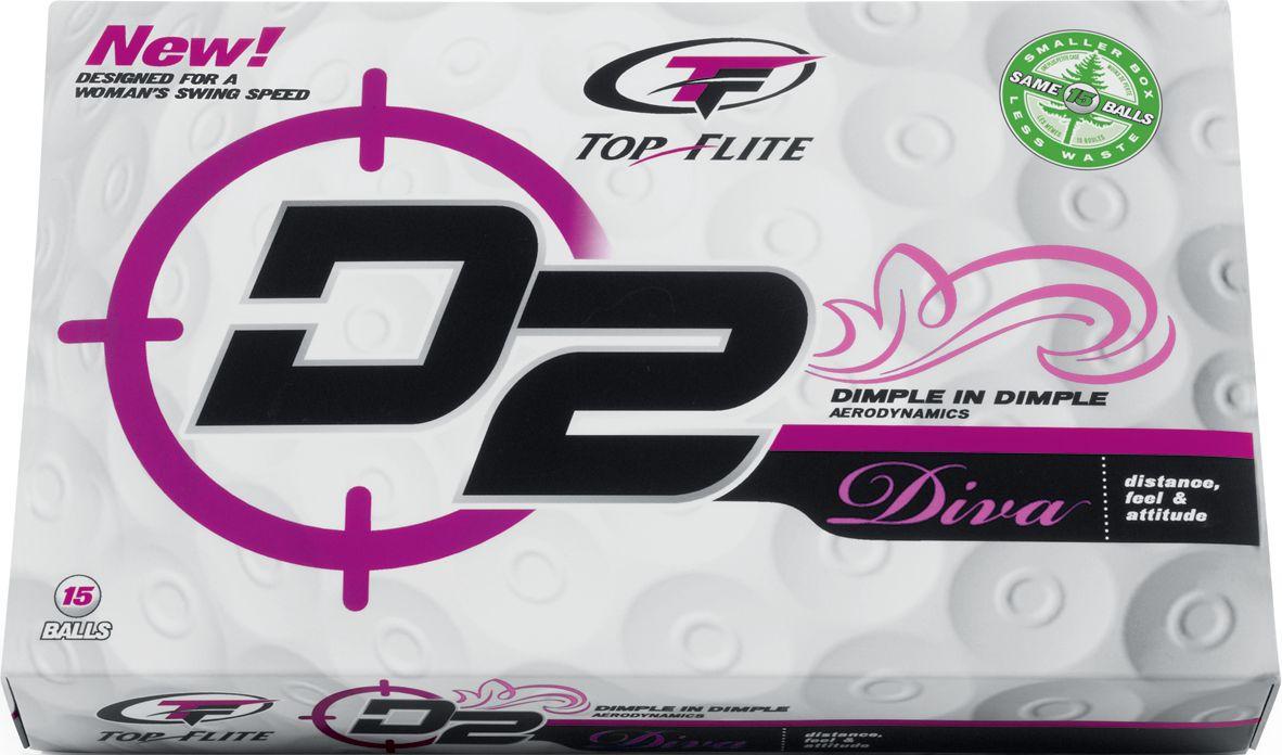 Top Flite D2 Diva Golf Balls 2009 - 15 pack