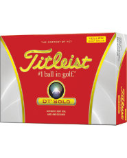Titleist DT SoLo Yellow Golf Balls - 12 pack