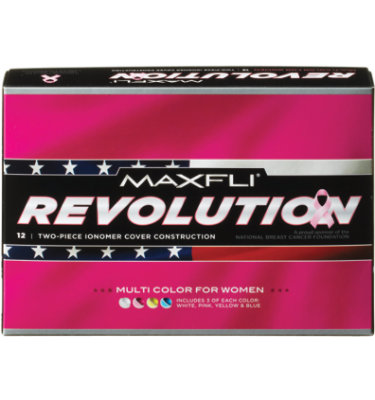 Maxfli Women's Revolution Multi-Color Golf Balls - 12 pack