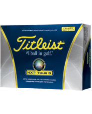 Titleist NXT Tour S Yellow Golf Balls - 12 pack (Personalized)