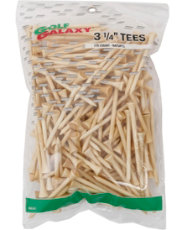 "Golf Galaxy 3¼"" Natural Golf Tees - 175 Count"