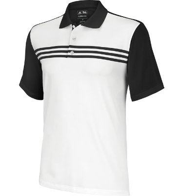 adidas Men's CLIMACOOL 3-Stripes Colorblock Short Sleeve Polo
