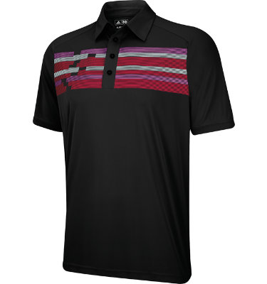 adidas Men's CLIMACOOL Chest Block Print Short Sleeve Polo