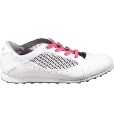 adidas Women's Driver CLIMACOOL Golf Shoe - Run White/Metallic Silver