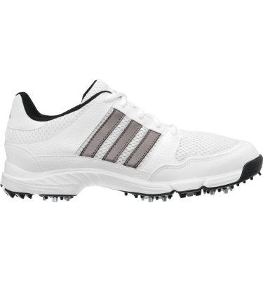 adidas Juniors' Tech Response Golf Shoe - White/Dark Silver Metallic