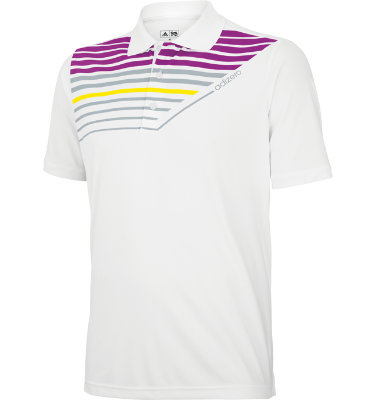 adidas Men's adizero Engineered Print Short Sleeve Polo