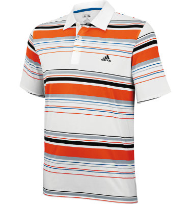 adidas Men's adizero Bold Stripe Short Sleeve Polo