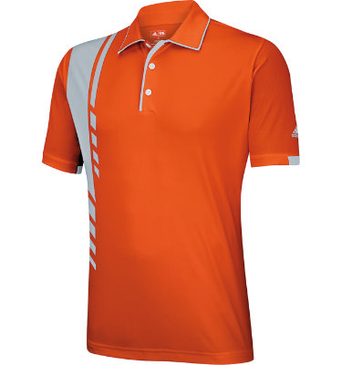 adidas Men's adizero Side Print Short Sleeve Polo