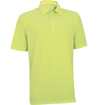 Ashworth Men's Performance EZ-SOF Microstripe Short Sleeve Golf Shirt