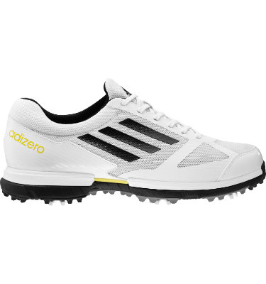 adidas Men's adizero Sport Golf Shoe - White/Black/Yellow