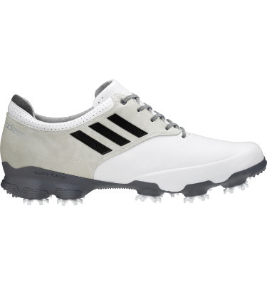 adidas Men's adizero Tour Golf Shoe - White/Black/Silver