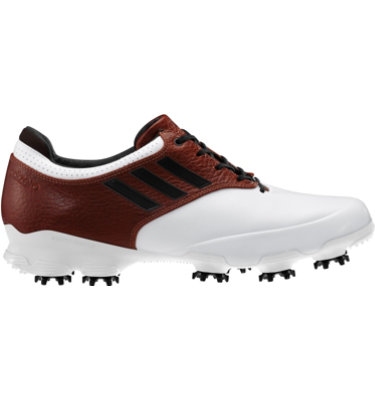 adidas Men's adizero Tour Golf Shoe - White/Brown