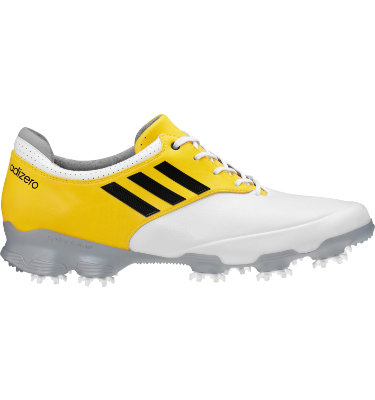 adidas Men's adizero Tour Golf Shoe - White/Yellow