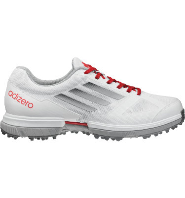 adidas Women's adizero Sport Golf Shoe - White/Punch