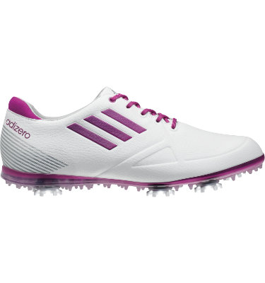 adidas Women's adizero Tour Golf Shoe - White/Purple