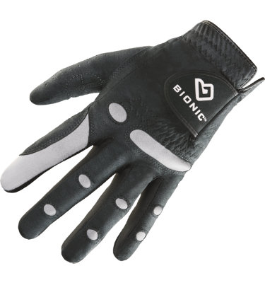 Bionic Men's AquaGrip Golf Glove - Black