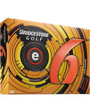 Bridgestone e6 Straight Distance Orange Golf Balls - 12 pack (Personalized)