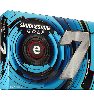 Bridgestone e7 Pure Distance Golf Balls - 12 pack (Personalized)