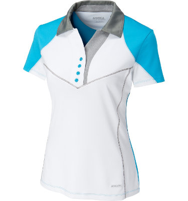 Cutter & Buck Women's Colorblock Blitz Short Sleeve Polo