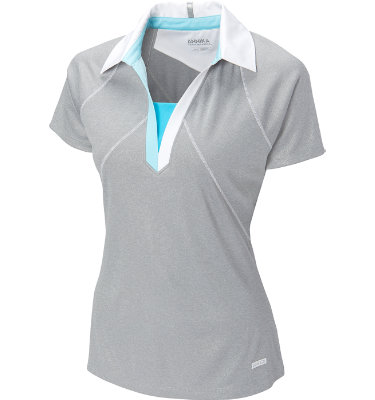 Cutter & Buck Women's Foil Glisten Short Sleeve Polo
