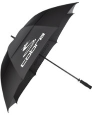 "Cobra 68"" Storm Perform Double Canopy Umbrella - Black"