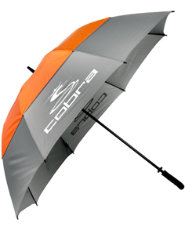 "Cobra 68"" Storm Perform Double Canopy Umbrella - Gray"
